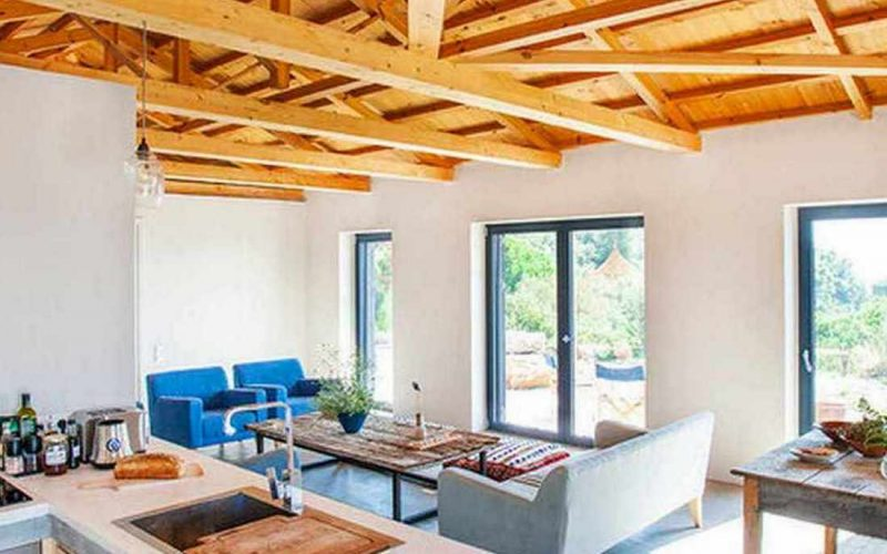 Complex of cottages with best views to the Aegean Sea Two singles Main cottage
