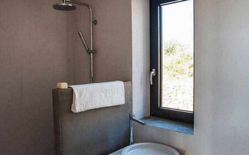 Complex of cottages with best views to the Aegean Sea Bathroom