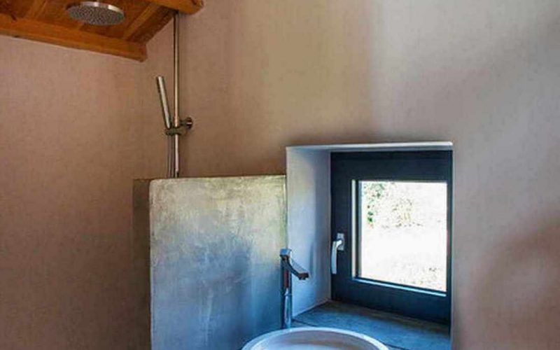 Complex of cottages with best views to the Aegean Sea Bathroom Loft cottage