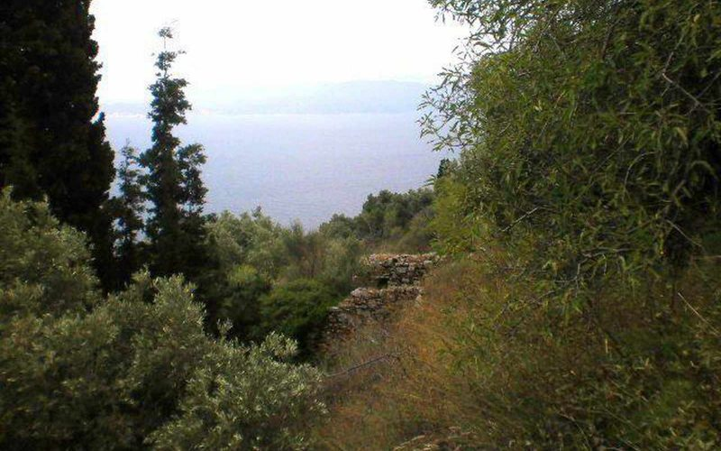 Buildable plot close to Glossa village with ruined cottage and amazing views