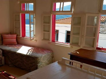 The Pink House in Skopelos Island