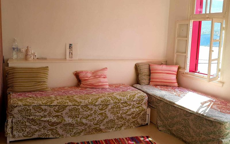 The Pink Shutter House Top floor Sofa beds