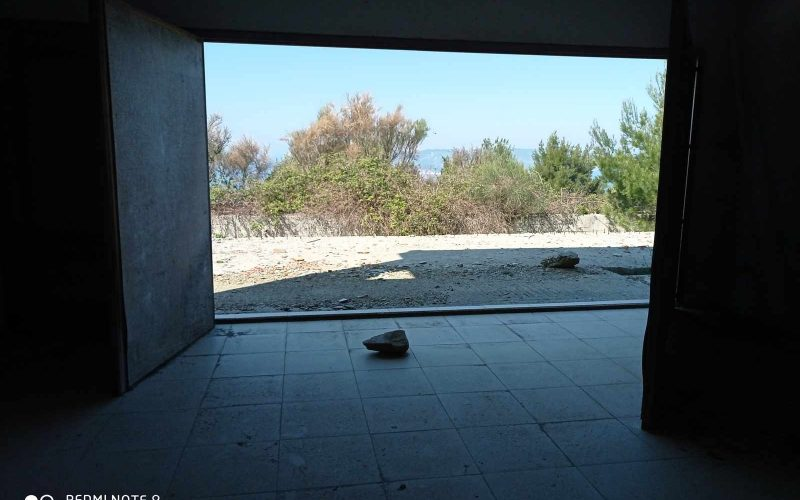 Unfinished Villa with breathtaking views towards the Sea. Living room area