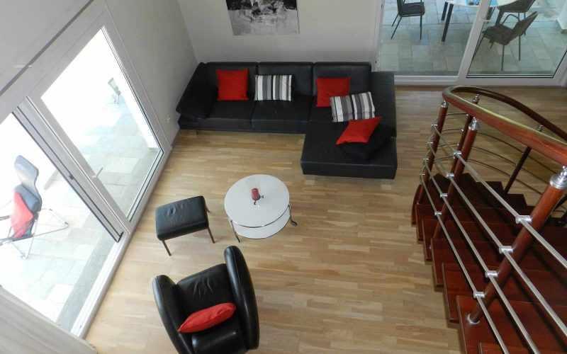 Architect designed Villa in the countryside of Skopelos Island Living room area