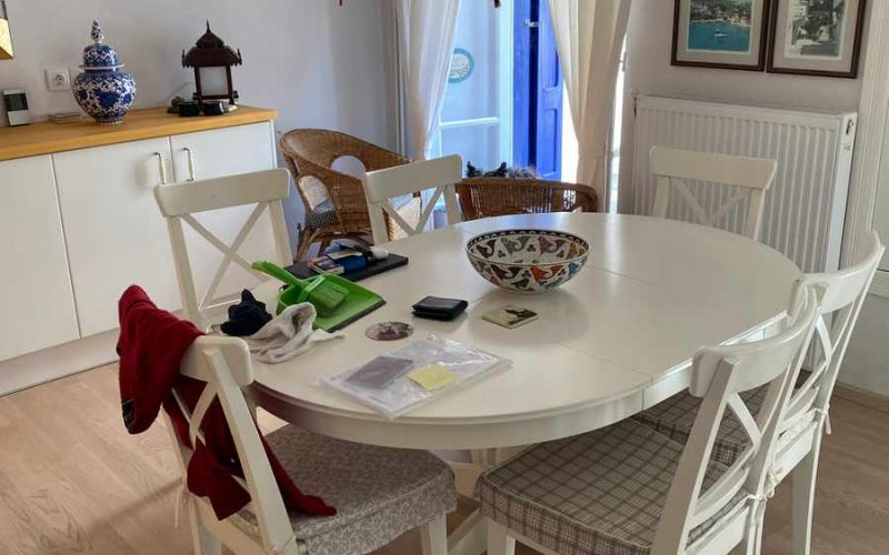 Traditional Renovated property inside Skopelos Town Dining room