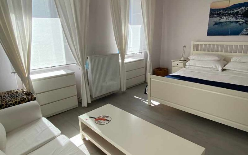 Traditional Renovated property inside Skopelos Town Bedroom