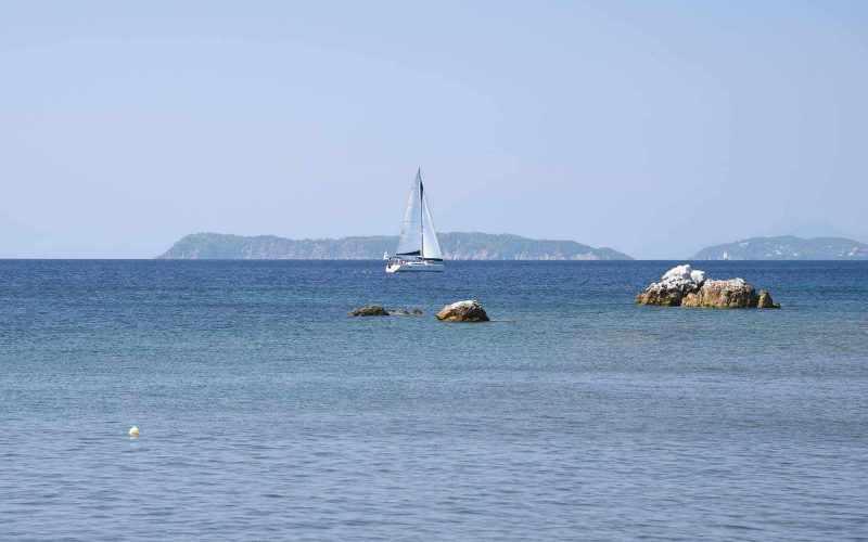 Beachfront Villa for sale on Skopelos Island The beach