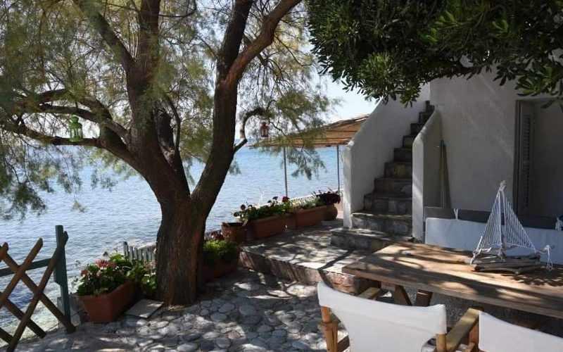 Beachfront Villa for sale on Skopelos Island The outside