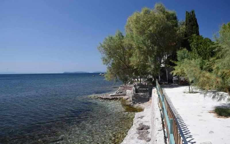 Beachfront Villa for sale on Skopelos Island The Villa and the beach