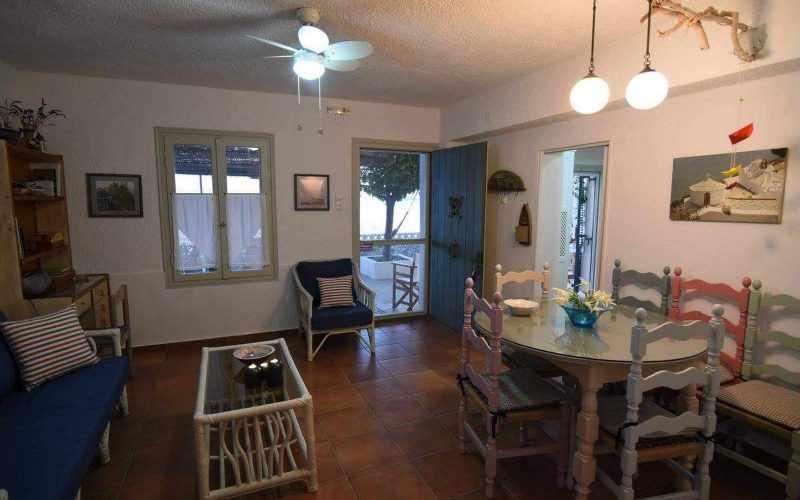 Beach front Villa for sale on Skopelos Island - Living/Dining room