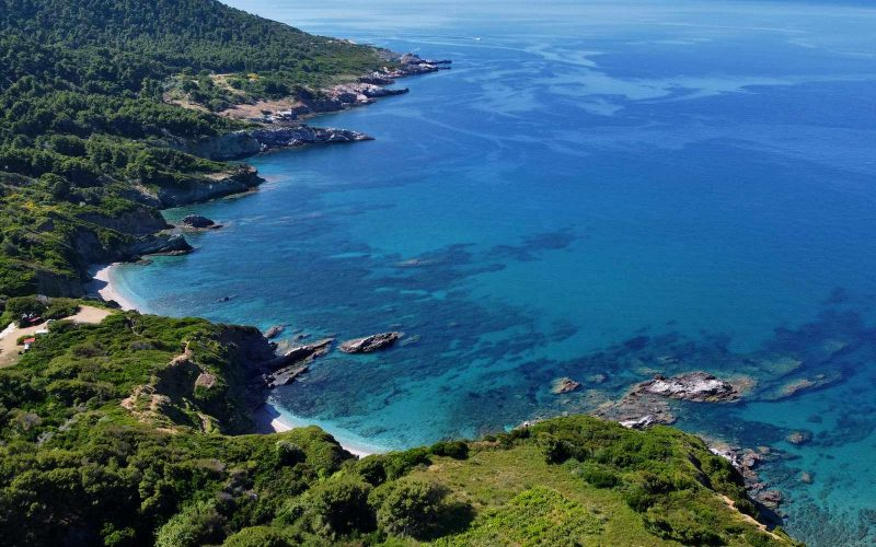 Unique land with access to two beaches on Skopelos Island, Greece