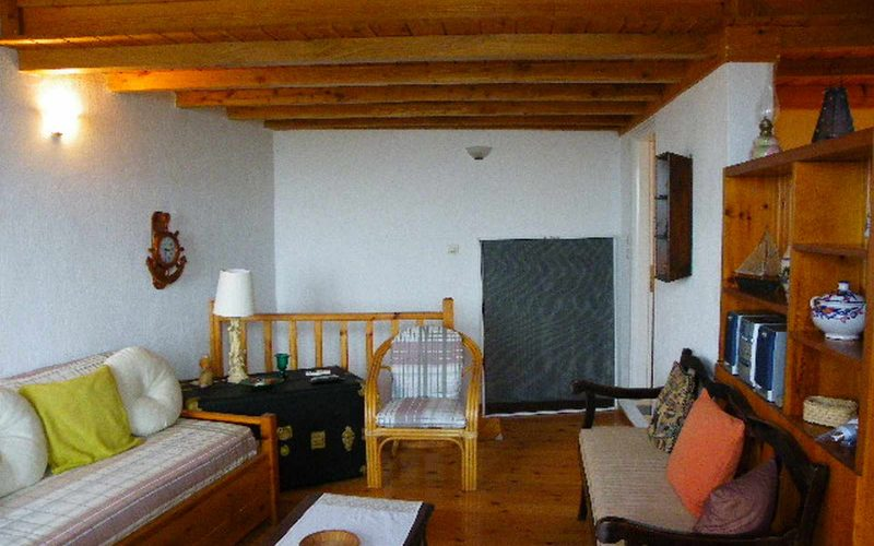 Traditional house in Old Klima village Living room