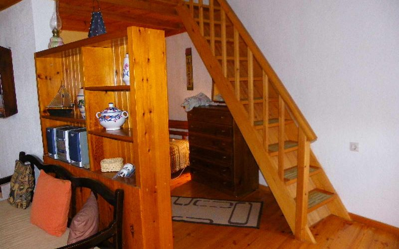 Traditional house in Old Klima village Staircase to attic