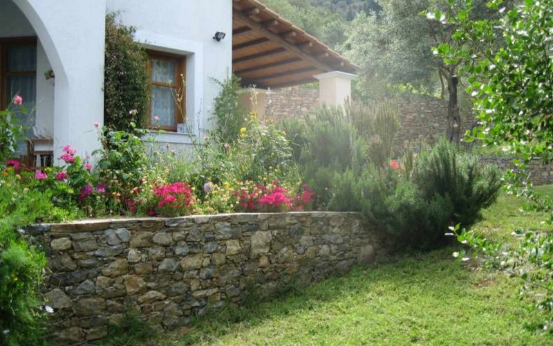 Villa with swimming pool and Views to Skopelos Town and port Garden