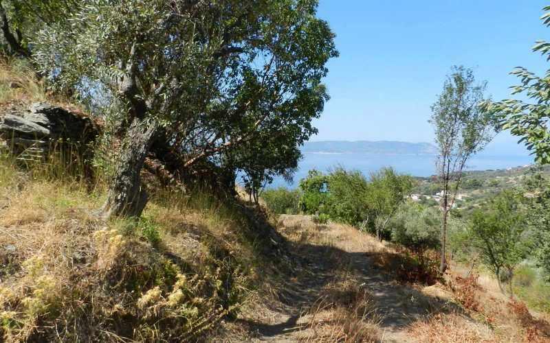 Plot near Glossa rea with views to the Sea - Property road