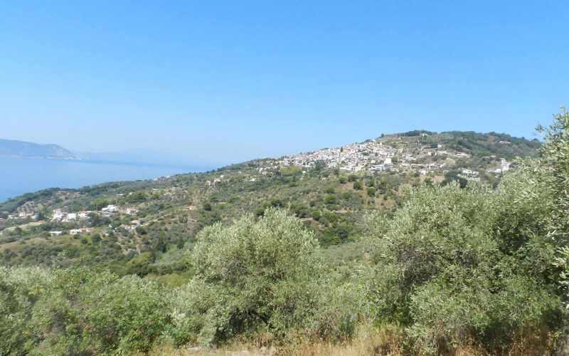 Plot near Glossa rea with views to the Sea Views
