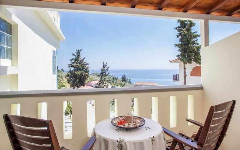 Exquisite hotel for sale above Stafilos Beach Balcony