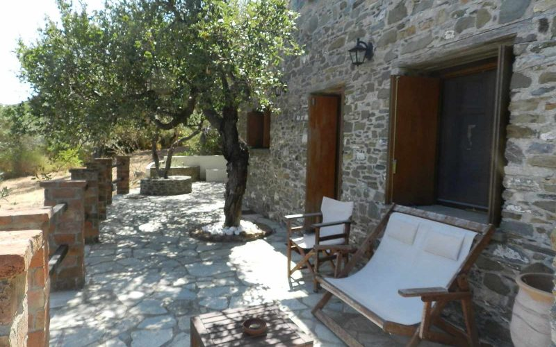 Stone made Villa with swimming pool and views The front terrace