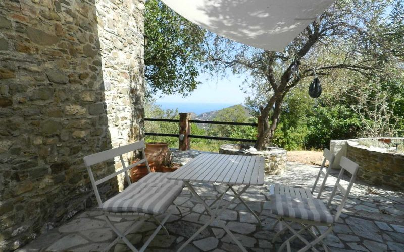 Stone made Villa with swimming pool and views The side terrace