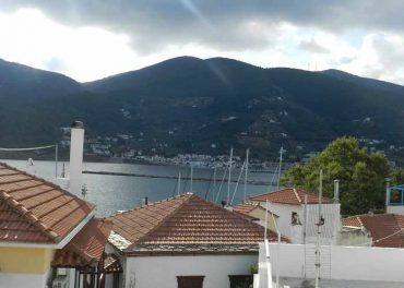 Traditional property in centre of Skopelos Town with terrace