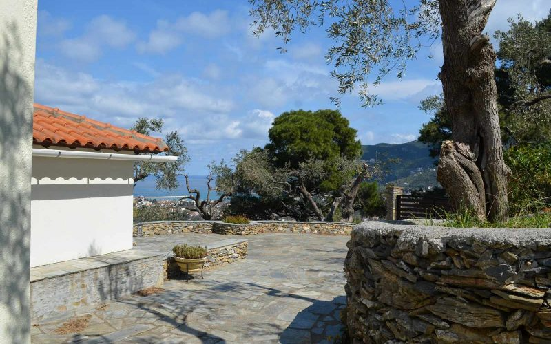 Villa with guest house close to Skopelos Town Terraces