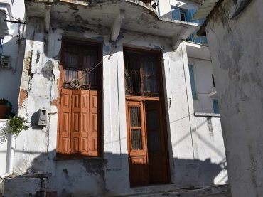 Traditional 3 storey property to renovate inside Skopelos Town
