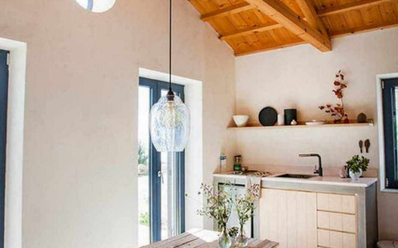 Complex of cottages with best views to the Aegean Sea Small cottage kitchen