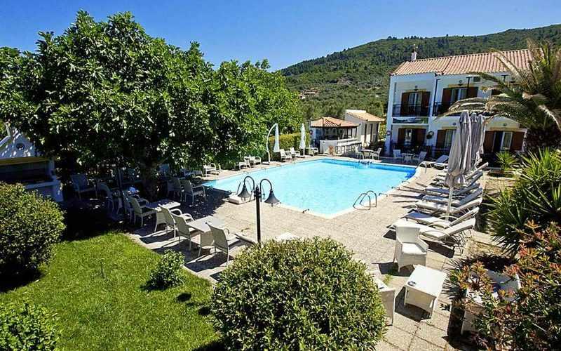 Hotel for Sale in Stafilos area on Skopelos Island - Pool areas