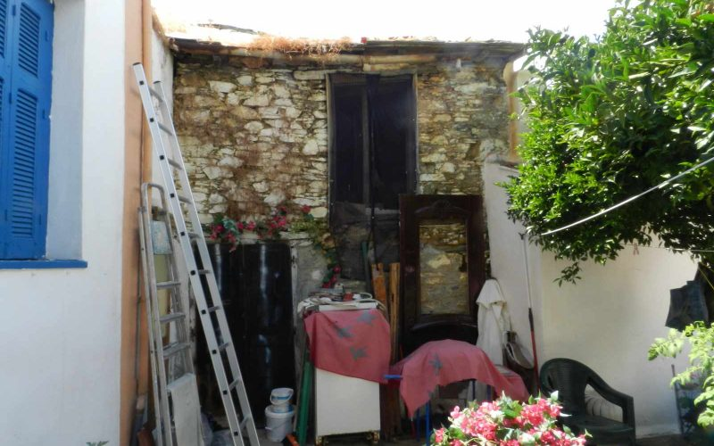 Two Town Houses both with yards inside Skopelos Town The ruin