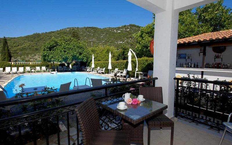Hotel for Sale in Stafilos area on Skopelos Island - Balcony