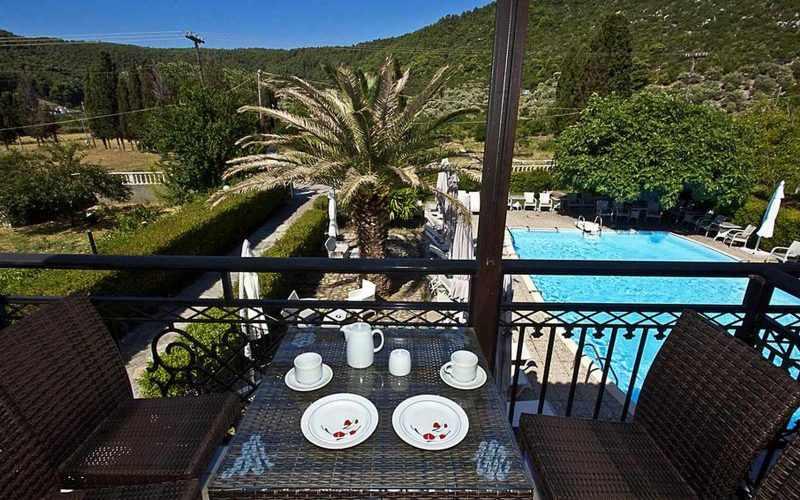 Hotel for Sale in Stafilos area on Skopelos Island - Balcony view