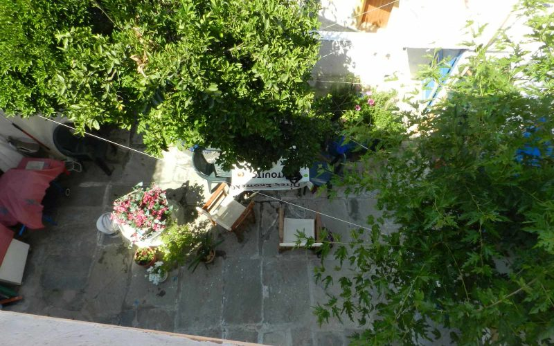 Two Town Houses both with yards inside Skopelos Town The yard