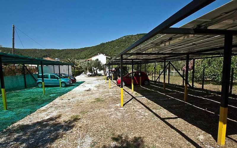 Hotel for Sale in Stafilos area on Skopelos Island - Parking area