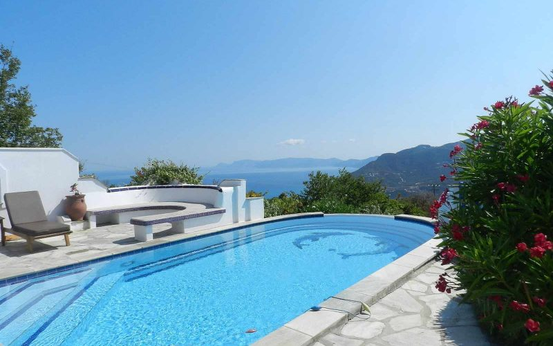 Villa with swimming pool and stunning views to the Sporades Islands The swimming pool