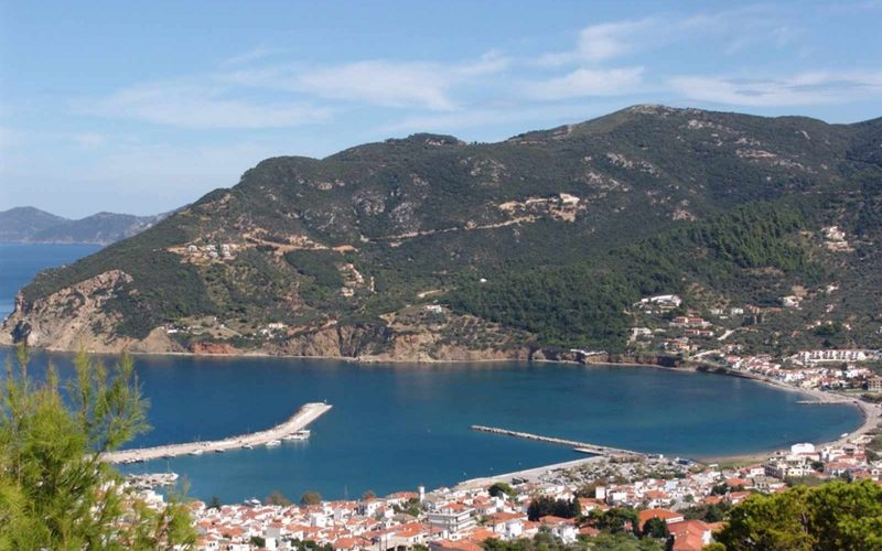 Land Property above Skopelos Town with amazing views