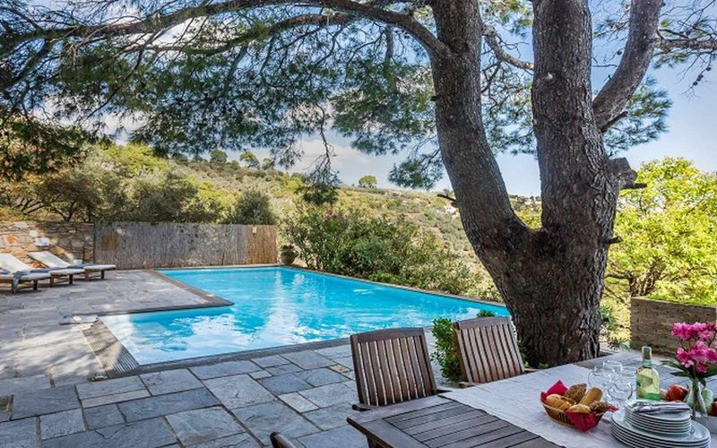 Stylish Villa with views and swimming pool close to Skopelos Town Swimming Pool