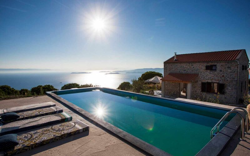 Complex of cottages with best views to the Aegean Sea Pool and pool area