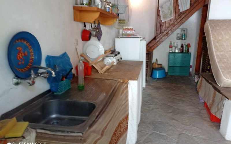 Traditional property in Old Klima village on Skopelos Island Kitchen
