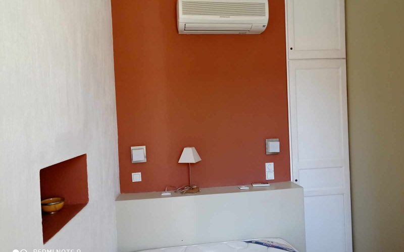 Traditional Town house with terrace and views to Skopelos Town and port Bedroom 1