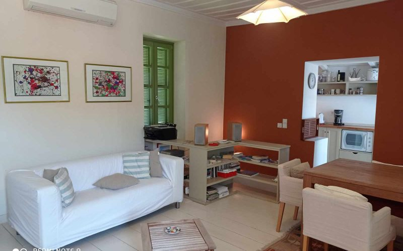 Traditional Town house with terrace and views to Skopelos Town and port Living room