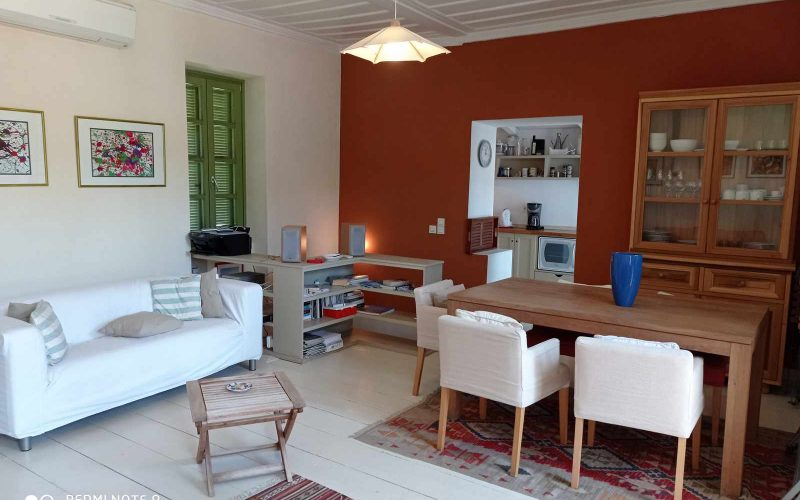 Traditional Town house with terrace and views to Skopelos Town and port Dining room