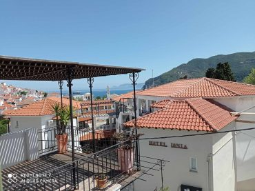 Skopelos Towwn house with terrace and views to Skopelos Town and port
