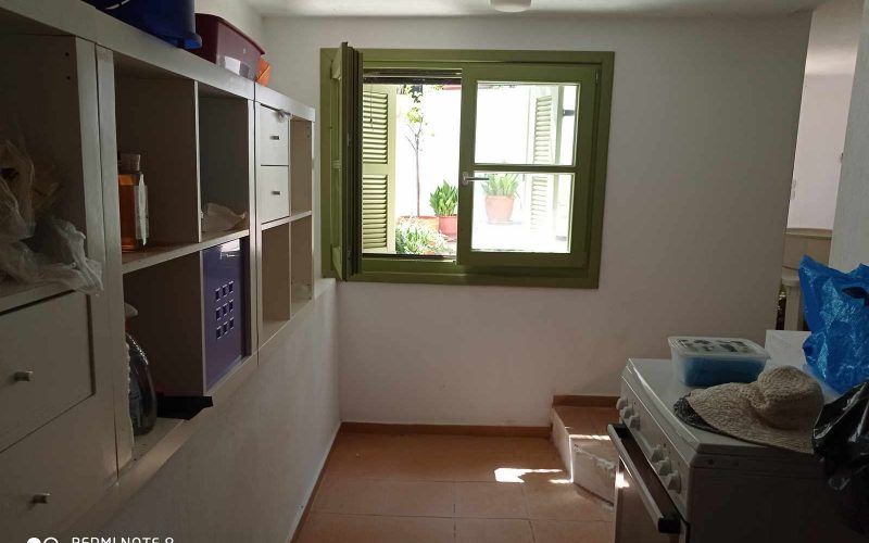 Traditional Town house with terrace and views to Skopelos Town and port Storage place